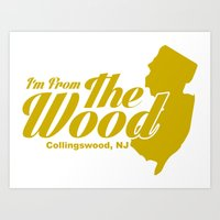 "Collingswood ""From The Wood"" School Color Art Print"