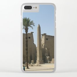 Temple of Luxor, no. 2 Clear iPhone Case