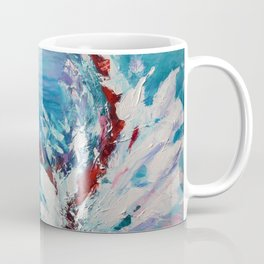 Emergence, abstract artwork, blue and white Coffee Mug