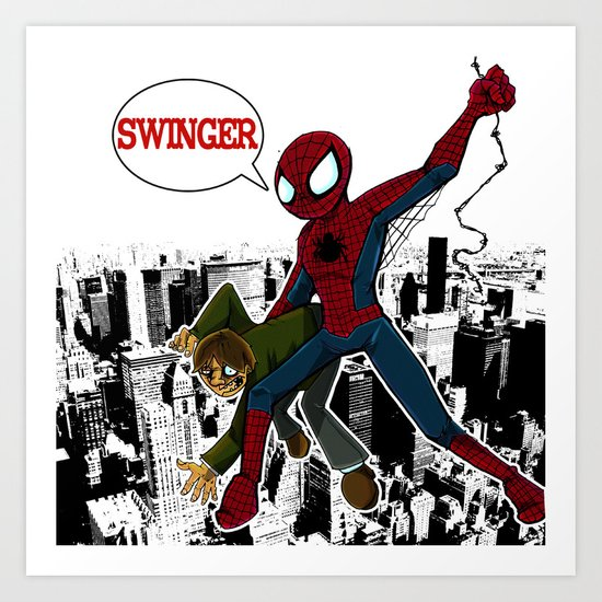 Swinger- A spiders story Art Print