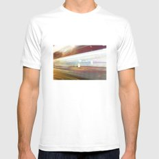 Speed of light White 2X-LARGE Mens Fitted Tee