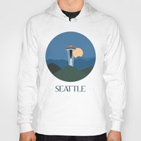 seattle Hoodies featuring Seattle by uzualsunday