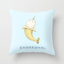 Banarwhal Throw Pillow
