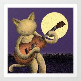 Singin' (Electric Catnip) Art Print