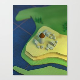 Small Village Canvas Print