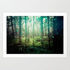 Nature Forest - Magical Green Art Print