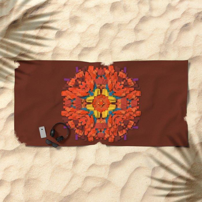 red round accumulation Beach Towel