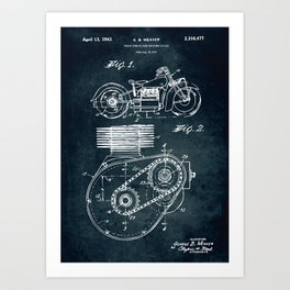 1941 - Shaft drive for motorycles Art Print