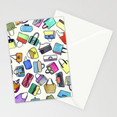 colored bags obsession Stationery Cards