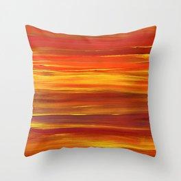 Sunset stratum Throw Pillow