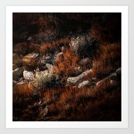 A Red Weed Art Print