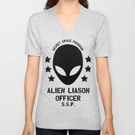 Top Secret Space Program Alien Liaison Officer cute funny tshirt gifts Unisex V-Neck