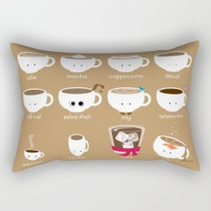 Know Your Coffees Rectangular Pillow