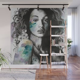 Start With a Strong and Persistent Desire | sexy black woman portrait Wall Mural