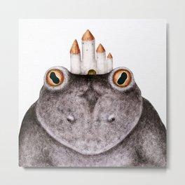 Princess Frog with red eyes Metal Print