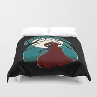 red riding hood Duvet Covers featuring Red Riding Hood 2 by Freeminds