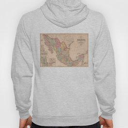 Vintage Map of Mexico (1859) Hoody