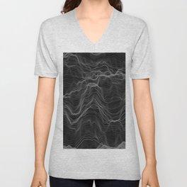 Soft Peaks Black Unisex V-Neck