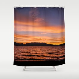 South Lake Tahoe Sunset Shower Curtain