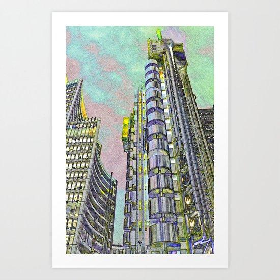 Lloyd's of London Building  Art Print