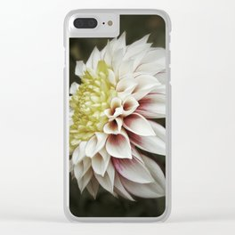 Moody Dahlia Clear iPhone Case