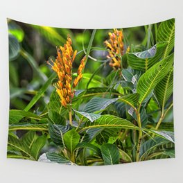 Yellow flower in the rain forest Wall Tapestry