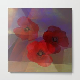 Summer promise with red poppies Metal Print