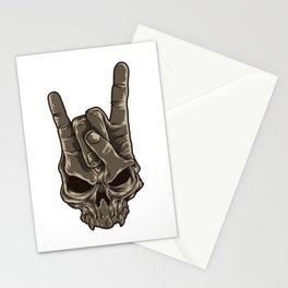 Devil Horns Sign | Heavy Metal Hand Gesture Music Stationery Cards