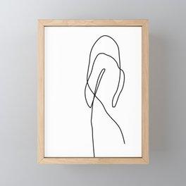 Abstract Female One Line Art Framed Mini Art Print