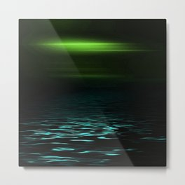 Green-Blue sea at twilight Metal Print