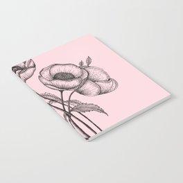 Palid Flowers  Notebook