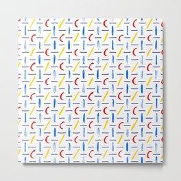 Colors & Shapes - RYB Metal Print