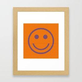 Comic Book Smiley Dots Framed Art Print