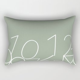 Fallen Numbers Rectangular Pillow