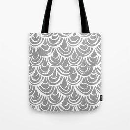 monochrome scallop scales Tote Bag