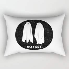 No Feet Ghosts Black and White Graphic Rectangular Pillow