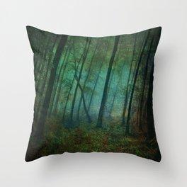 Calming blue winds Throw Pillow