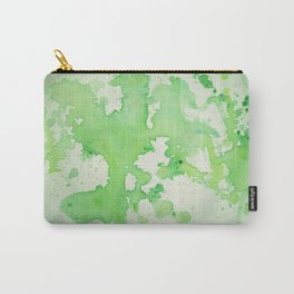 paint splatters in shades of green Carry-All Pouch