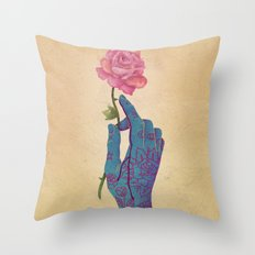 Beautiful pain Throw Pillow