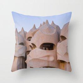 La Pedrera Throw Pillow