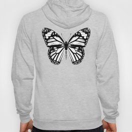 Monarch Butterfly | Vintage Butterfly | Black and White | Hoody