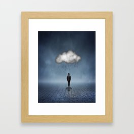 I like to Walk in the Rain, So No One Can See me Cry Framed Art Print