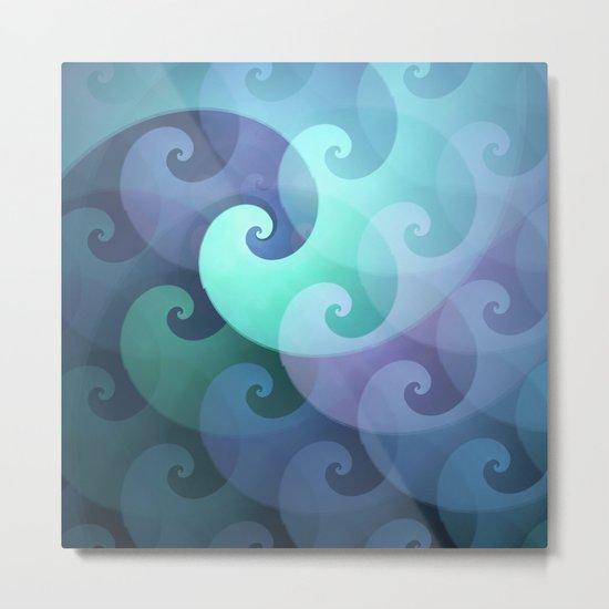 Curly ocean waves Metal Print