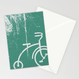 Grunge bicycle Stationery Cards