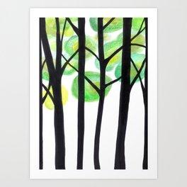 blacks trees Art Print