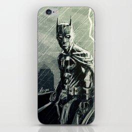 Gotham in Rain iPhone Skin