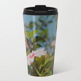 Soft Pink Hibiscus Travel Mug
