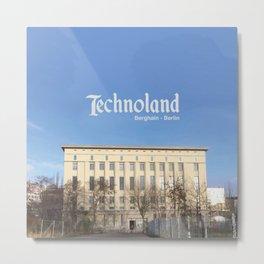 Technoland, Berlin, the Techno Meca Club! Metal Print