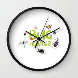 Kids Bug Hunter Insect Hunter Kid Gift Wall Clock