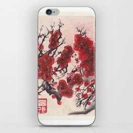 Red Cherry Blossoms (1 of 3) iPhone Skin